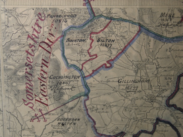 An old map of Silton and Bourton