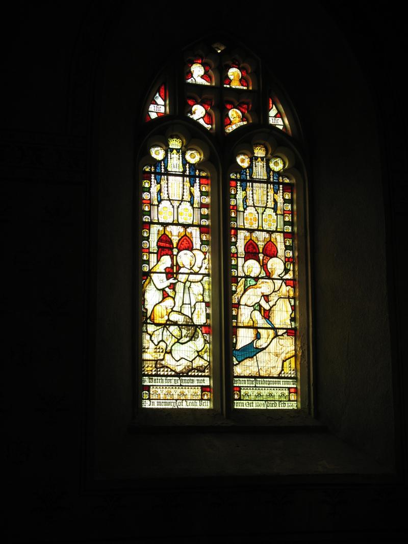 Stained glass window in Silton church